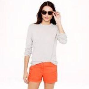 J CREW orange cotton chino 12 inch shorts 12